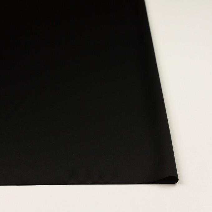 トリアセテート&ポリエステル×無地(ブラック)×サテンストレッチ イメージ3