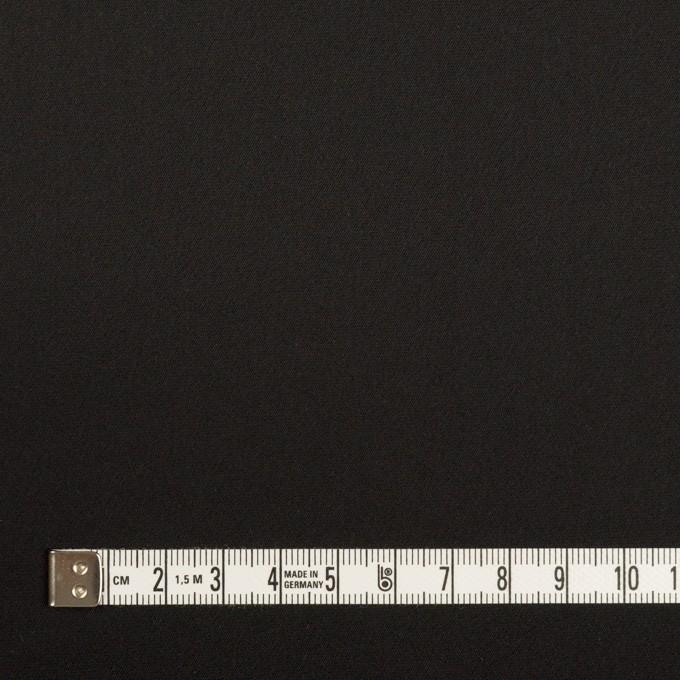 トリアセテート&ポリエステル×無地(ブラック)×サテンストレッチ イメージ4