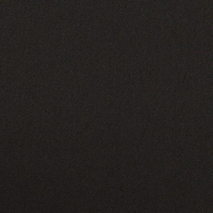 トリアセテート&ポリエステル×無地(ブラック)×サテンストレッチ イメージ1
