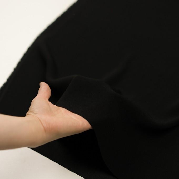 トリアセテート&ポリエステル×無地(ブラック)×バックサテン・ジョーゼット イメージ5