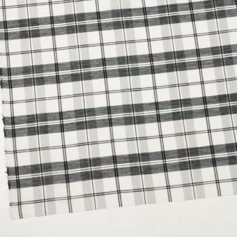 コットン&シルク×チェック(ホワイト&ブラック)×オーガンジー サムネイル2