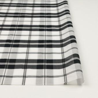 コットン&シルク×チェック(ホワイト&ブラック)×オーガンジー サムネイル3