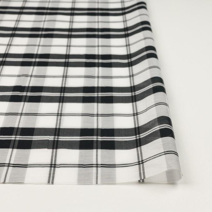 コットン&シルク×チェック(ホワイト&ブラック)×オーガンジー イメージ3