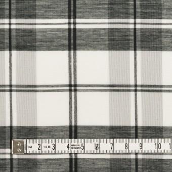 コットン&シルク×チェック(ホワイト&ブラック)×オーガンジー サムネイル4