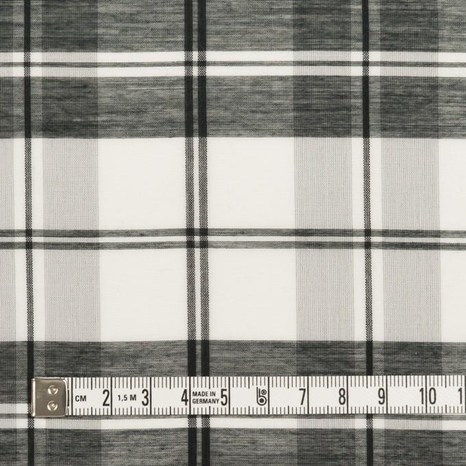 コットン&シルク×チェック(ホワイト&ブラック)×オーガンジー イメージ4