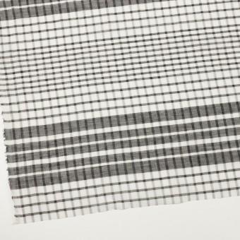 コットン&シルク×チェック(オフホワイト&ブラック)×オーガンジー サムネイル2