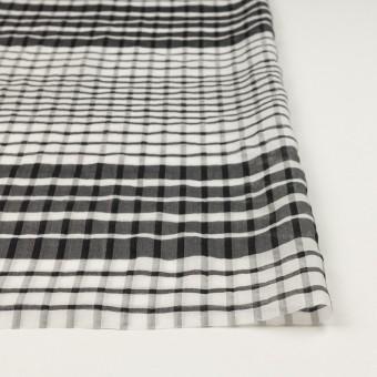 コットン&シルク×チェック(オフホワイト&ブラック)×オーガンジー サムネイル3