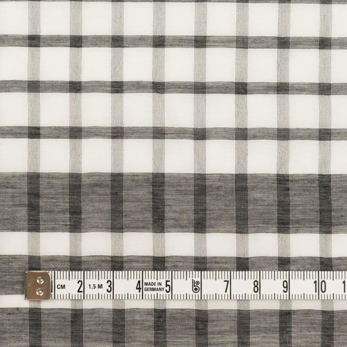 コットン&シルク×チェック(オフホワイト&ブラック)×オーガンジー イメージ4