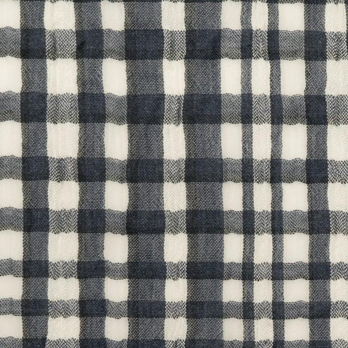 コットン&シルク×チェック(アッシュネイビー)×ヨウリュウ イメージ1