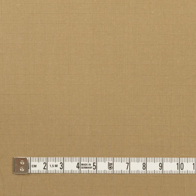 コットン×無地(カーキベージュ)×リップストップ イメージ4