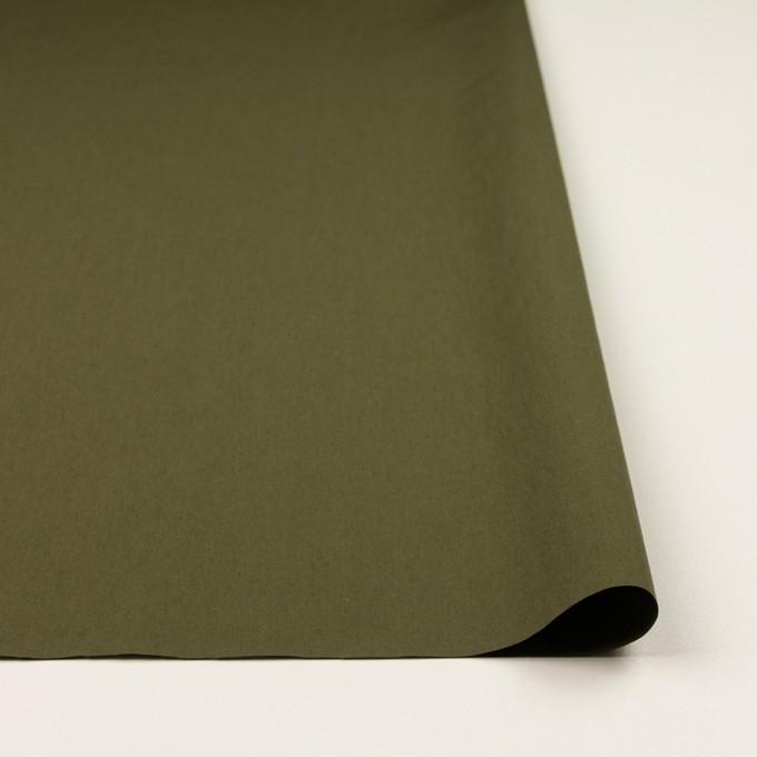 コットン&ナイロン×無地(アッシュカーキグリーン)×タイプライター(高密ローン) イメージ3