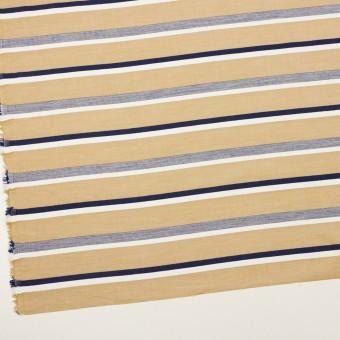 コットン×ボーダー(カーキベージュ&ネイビー)×ローンジャガード_全2色 サムネイル2