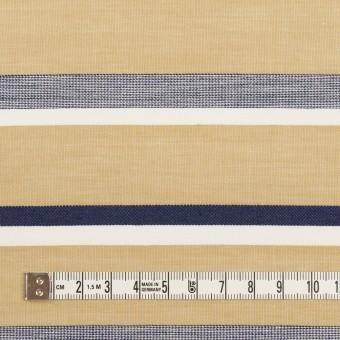 コットン×ボーダー(カーキベージュ&ネイビー)×ローンジャガード_全2色 サムネイル4