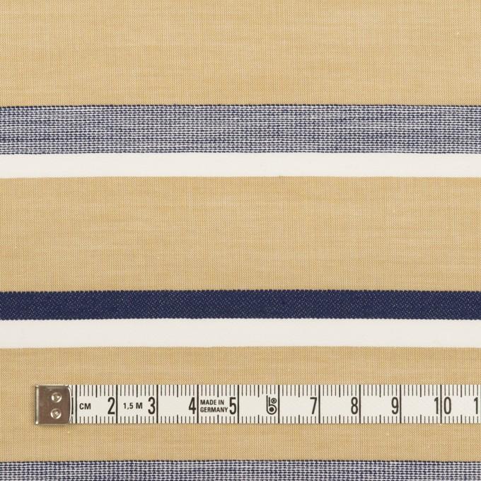 コットン×ボーダー(カーキベージュ&ネイビー)×ローンジャガード_全2色 イメージ4