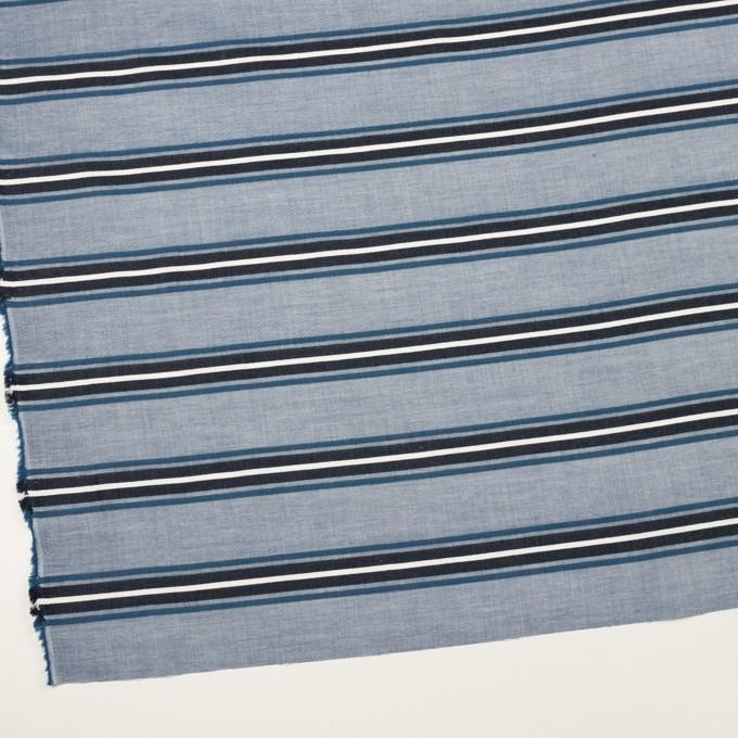 コットン×ボーダー(ブルー&チャコール)×ローンジャガード_全2色 イメージ2