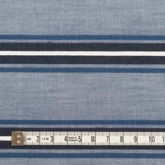 コットン×ボーダー(ブルー&チャコール)×ローンジャガード_全2色 サムネイル4