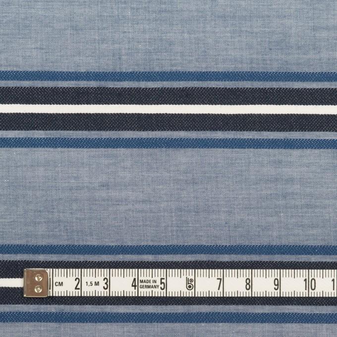 コットン×ボーダー(ブルー&チャコール)×ローンジャガード_全2色 イメージ4