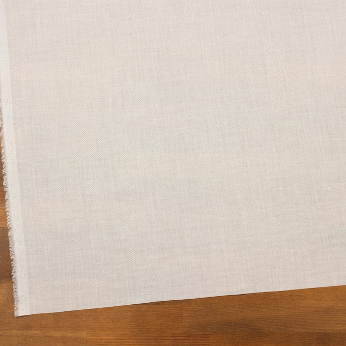 コットン×無地(ミルキーホワイト)×ボイル イメージ2