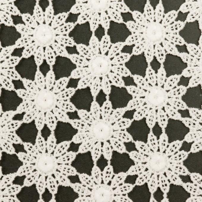 コットン×フラワー(オフホワイト)×ケミカルレース イメージ1