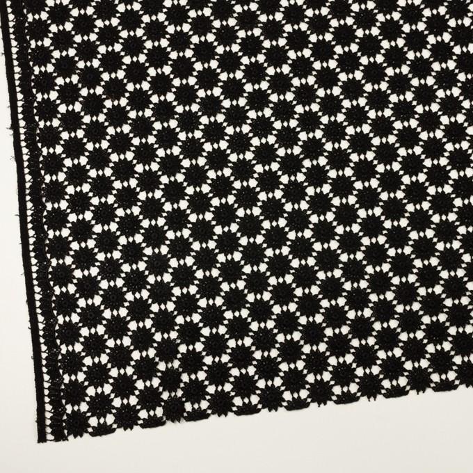 コットン×フラワー(ブラック)×ケミカルレース イメージ2