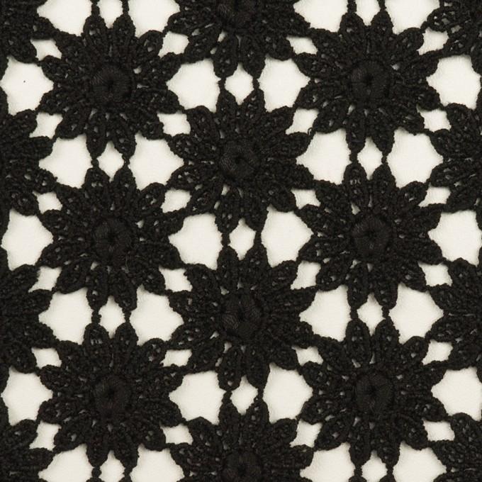 コットン×フラワー(ブラック)×ケミカルレース イメージ1