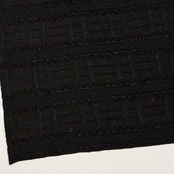 コットン&ナイロン混×ボーダー(ブラック)×ジョーゼット・カットジャガード サムネイル2