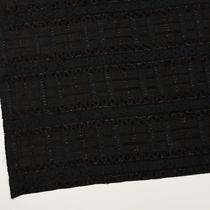 コットン&ナイロン混×ボーダー(ブラック)×ジョーゼット・カットジャガード イメージ2
