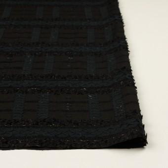 コットン&ナイロン混×ボーダー(ブラック)×ジョーゼット・カットジャガード サムネイル3