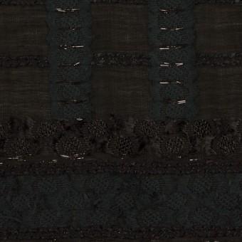 コットン&ナイロン混×ボーダー(ブラック)×ジョーゼット・カットジャガード サムネイル1