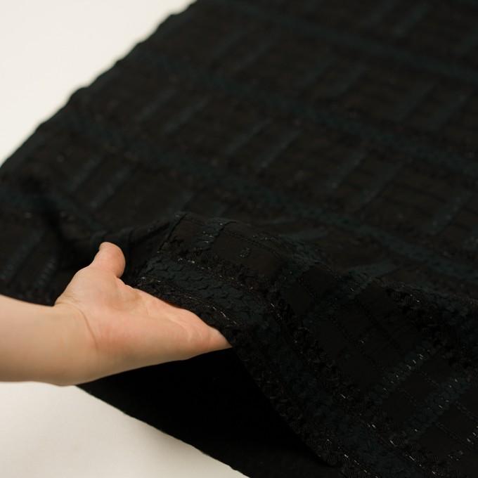 コットン&ナイロン混×ボーダー(ブラック)×ジョーゼット・カットジャガード イメージ5