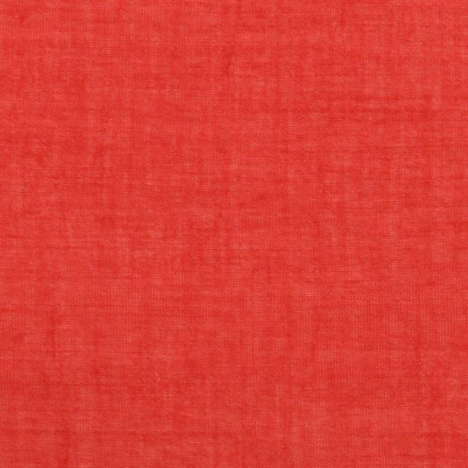 コットン×無地(レッド)×ガーゼワッシャー_全4色 イメージ1