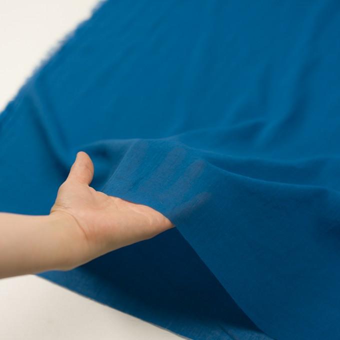コットン×無地(ブルー)×ガーゼワッシャー_全4色 イメージ5