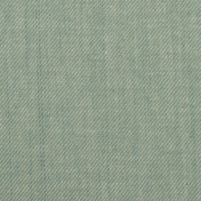 コットン×無地(シーグリーン)×サージ イメージ1