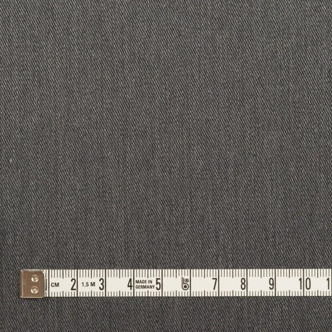 コットン&ポリエステル×無地(チャコールグレー)×サージストレッチ イメージ4