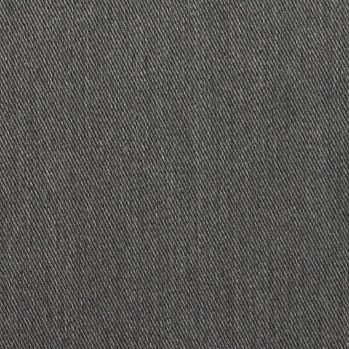 コットン&ポリエステル×無地(チャコールグレー)×サージストレッチ イメージ1