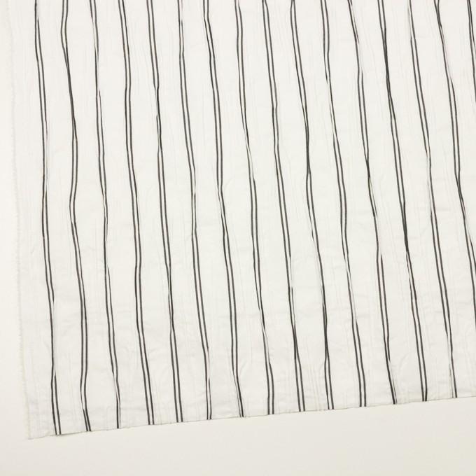 コットン&ポリエステル混×ストライプ(ホワイト&チャコール)×タテタック_全2色 イメージ2