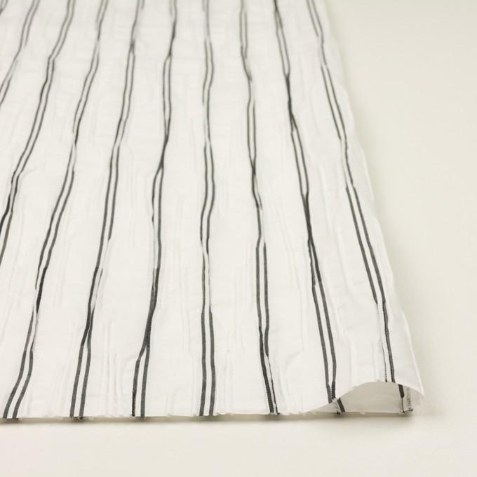 コットン&ポリエステル混×ストライプ(ホワイト&チャコール)×タテタック_全2色 イメージ3
