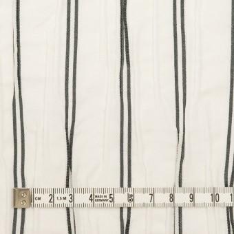 コットン&ポリエステル混×ストライプ(ホワイト&チャコール)×タテタック_全2色 サムネイル4