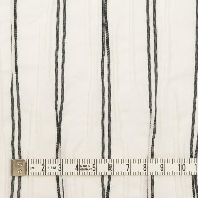 コットン&ポリエステル混×ストライプ(ホワイト&チャコール)×タテタック_全2色 イメージ4