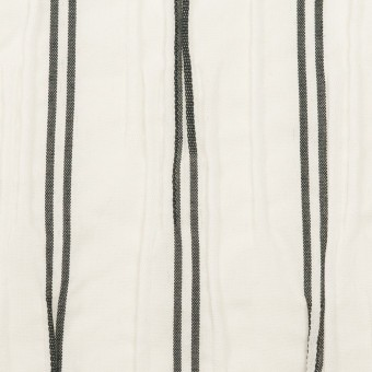 コットン&ポリエステル混×ストライプ(ホワイト&チャコール)×タテタック_全2色