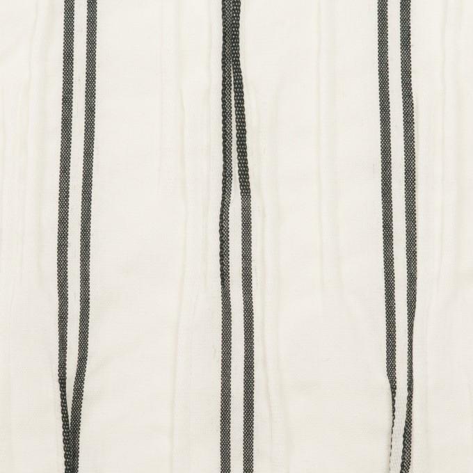 コットン&ポリエステル混×ストライプ(ホワイト&チャコール)×タテタック_全2色 イメージ1