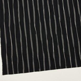 コットン&ポリエステル混×ストライプ(ブラック&ライトグレー)×タテタック_全2色 サムネイル2