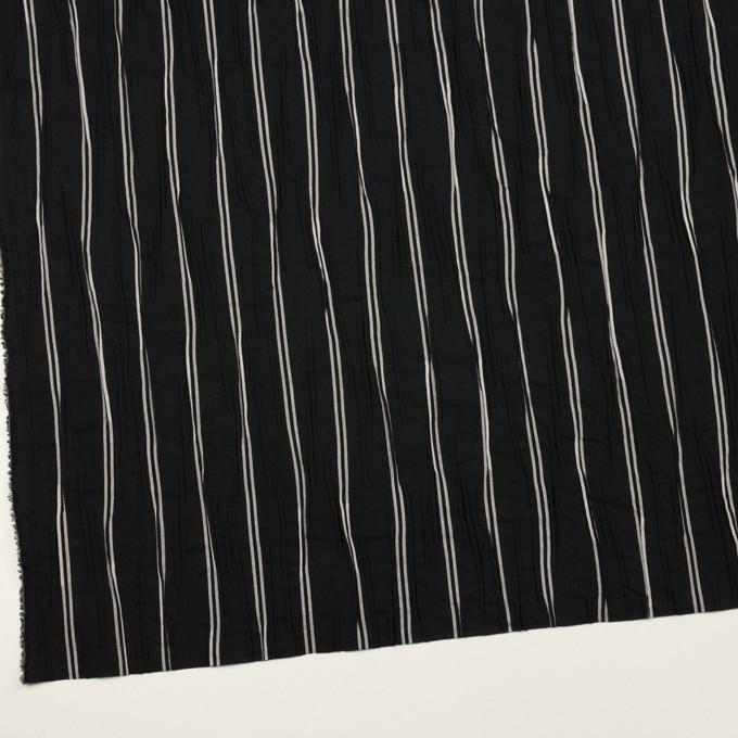 コットン&ポリエステル混×ストライプ(ブラック&ライトグレー)×タテタック_全2色 イメージ2