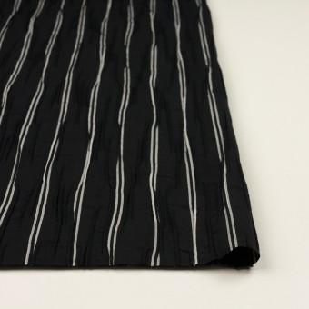 コットン&ポリエステル混×ストライプ(ブラック&ライトグレー)×タテタック_全2色 サムネイル3