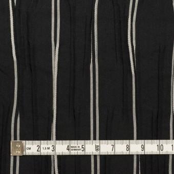 コットン&ポリエステル混×ストライプ(ブラック&ライトグレー)×タテタック_全2色 サムネイル4