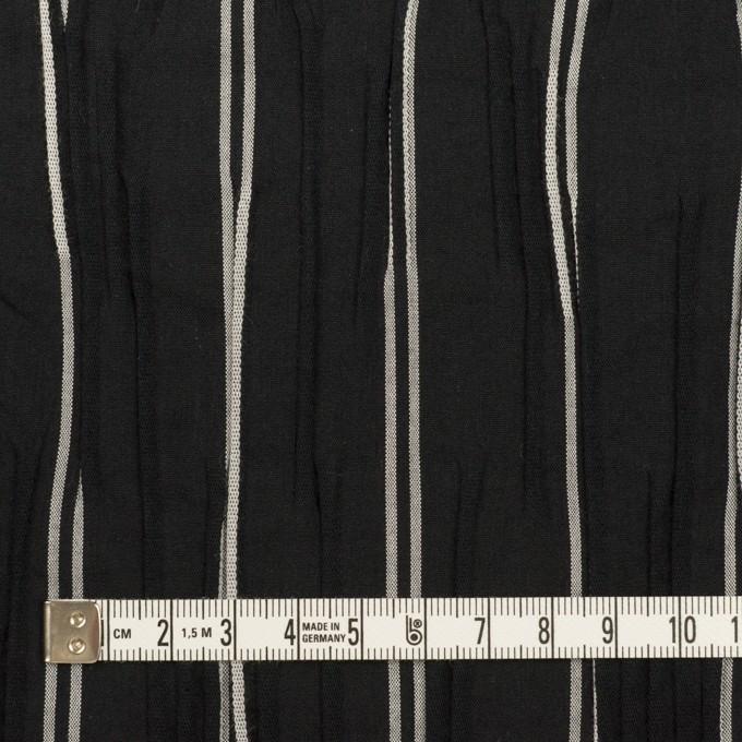 コットン&ポリエステル混×ストライプ(ブラック&ライトグレー)×タテタック_全2色 イメージ4