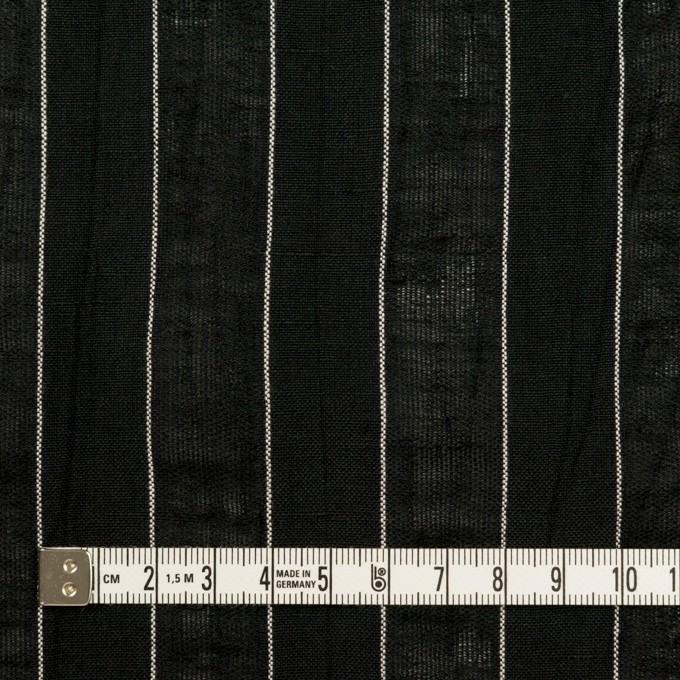 コットン&リネン×ストライプ(ブラック)×ジャガード イメージ4