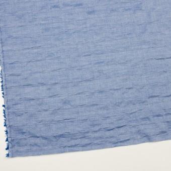 コットン&ポリウレタン×ボーダー(ブルー)×ボイルジャガード・シャーリング サムネイル2