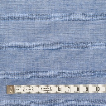 コットン&ポリウレタン×ボーダー(ブルー)×ボイルジャガード・シャーリング サムネイル4