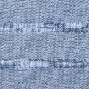 コットン&ポリウレタン×ボーダー(ブルー)×ボイルジャガード・シャーリング サムネイル1